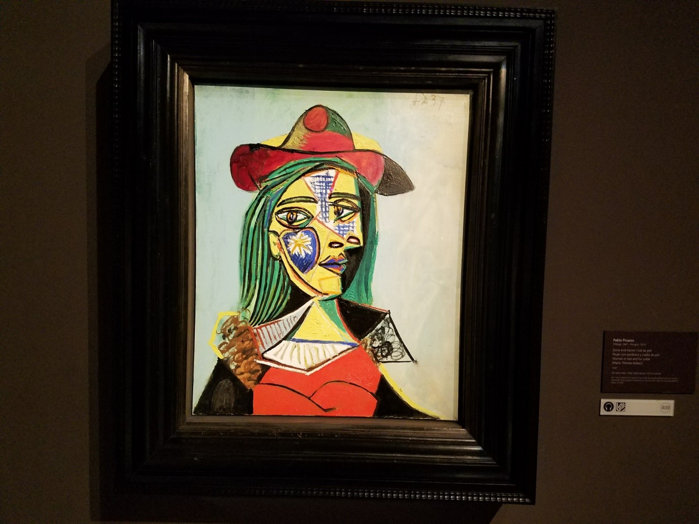 """f15d2f6c2e1 """"Woman in Hat and Fur Collar"""" – Painting by Pablo Picasso 1937"""